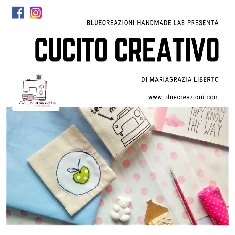 Corso on line  Cucito Creativo Bluecreazioni Ediz. 2019 image 0