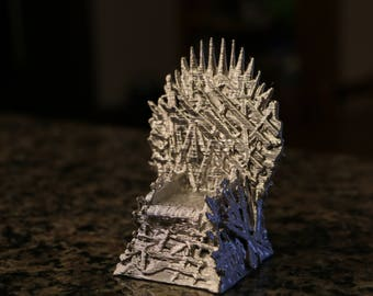 iron throne office chair lord rings iron throne game of thrones 3d printed model fathers day gift throne art etsy