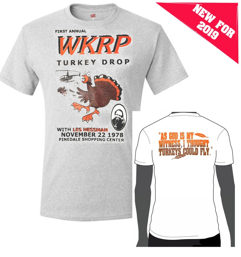 49b7c92994e73 WKRP Turkey Drop shirt. Its an all time holiday classic | Etsy