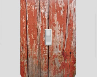 Decorative Decoupage Light Switch Covers The Old Wooden Fence Look