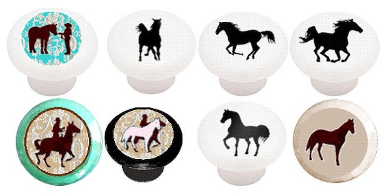 Knobs Western Decor Knobs For Horse Lovers 3 Sizes Kitchen Etsy