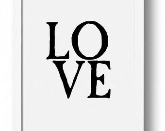 Love, Love Wall Art, Love Print, Love Poster, Nursery Print, Affiche
