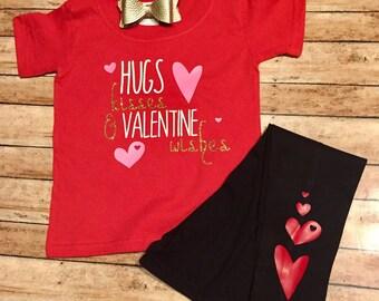 Hugs Kisses & Valentine Wishes