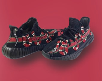 41b1c5a14ba7 Custom Gucci Snake Yeezy 350 V2 (ALL SIZES)(Hand-Painted)