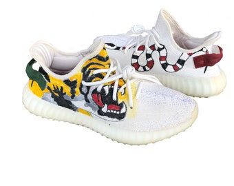 b42eed4b3e8 Custom Gucci Tiger Snake Yeezy 350 V2 (ALL SIZES)(Hand-Painted)