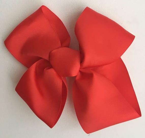 Gros nœud rouge cheveux noeud Jojo Siwa danse mamans inspiré à la main au Royaume-Uni