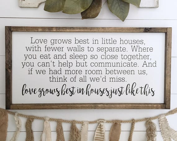 FREE SHIPPING | 24x13 | Love Grows Best