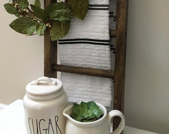 Mini Ladder, Farmhouse Decor, Kitchen Decor, Bathroom Decor, Farmhouse Ladder, Rustic Decor, Fixer Upper Style, Hand Towel Ladder