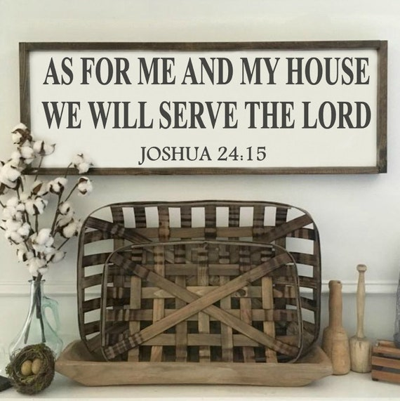 24X13 | Serve The Lord | Bible Verse | Rustic Sign | Fixer Upper Style | Kitchen Decor | Farmhouse Decor | Gallery Wall