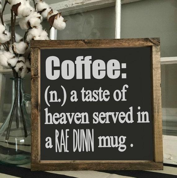 Coffee Sign, Rae Dunn, Kitchen Decor, Mug Sign, Farmhouse Style Decor, Handwritten Font, Wood Sign, Rustic Decor