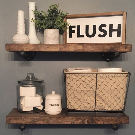 12X7 | Bathroom Flush Sign | Funny Bathroom Sign | Farmhouse Style Decor | Kids Bathroom | Farmhouse