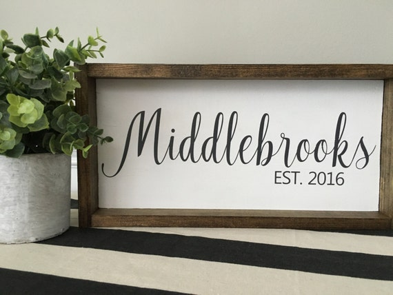 Personalized Name Sign, Custom Home Decor, Farmhouse Style Decor, Handwritten Font