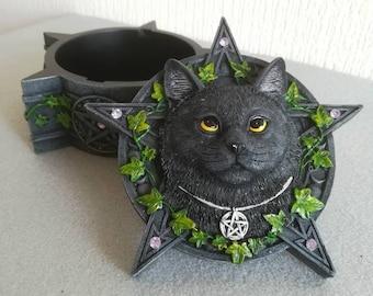 Image by Shutterstock Watercolor Halloween Witch Cat Women/'s Tee