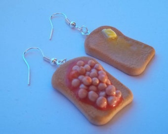 Beans, butter and toast Earrings