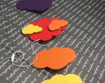 Cloud applies wooden wall, wood lamp, custom color,luminary room bb aplique, baby lamp sky, baby room, Diy decopy