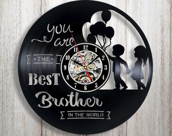 Gift For Brother From Sister Vinyl Wall Clock And Birthday Personalized