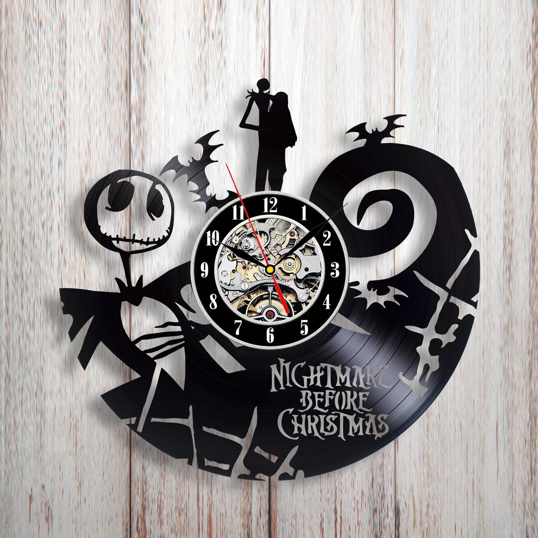 Nightmare Before Christmas Wall Clock Vinyl Wall Clock Nbc Fan