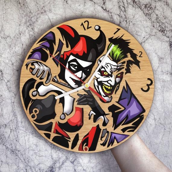 Joker And Harley Quinn Harley Quinn Clock Joker Gift Joker And Harley Art Harley Quinn Gift Joker Decor Harley Quinn Decor Joker Clock