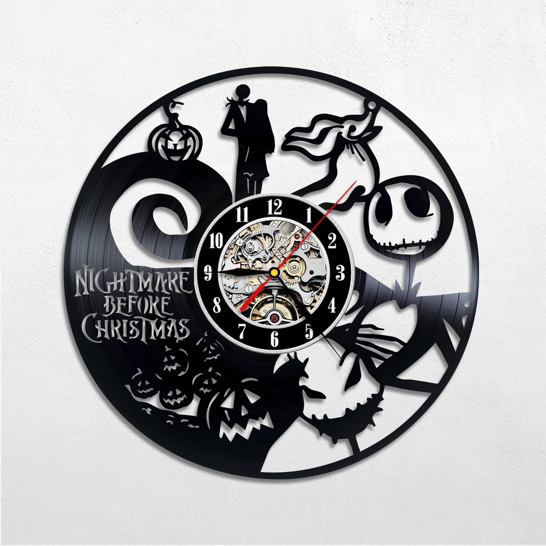Nightmare before christmas decor Vinyl wall clock Jack | Etsy