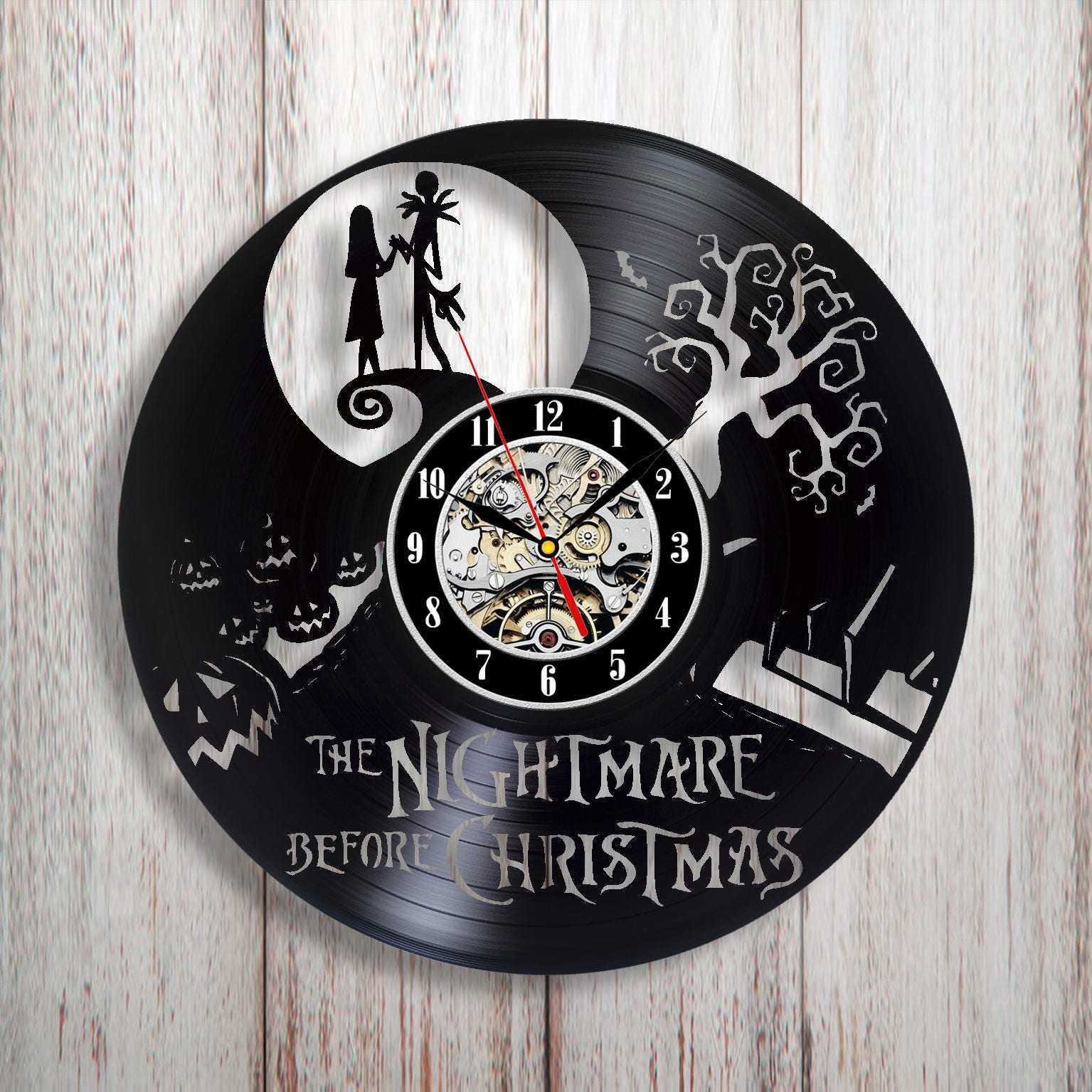 Vinyl clock nightmare before christmas Nightmare decor | Etsy