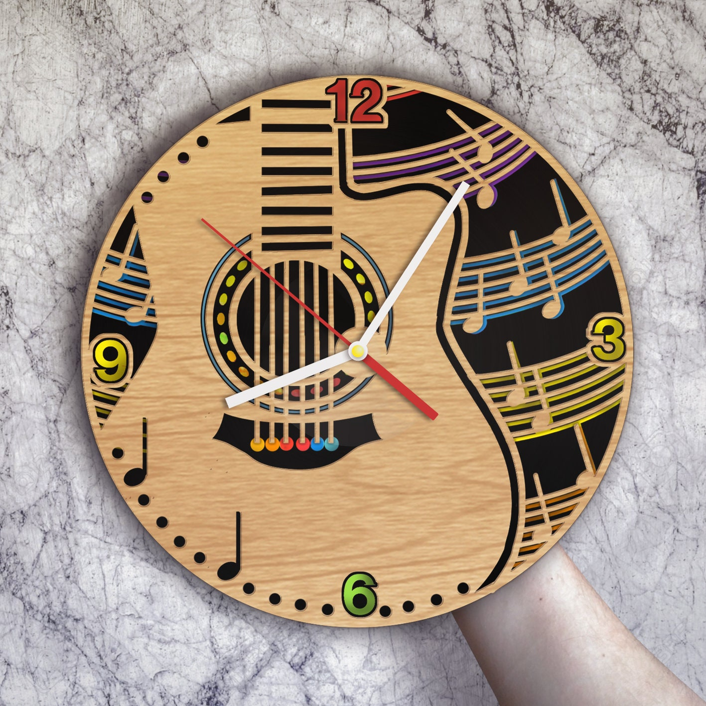 Guitar Music Art Guitar Clock Guitar Wall Decor Guitar Wall