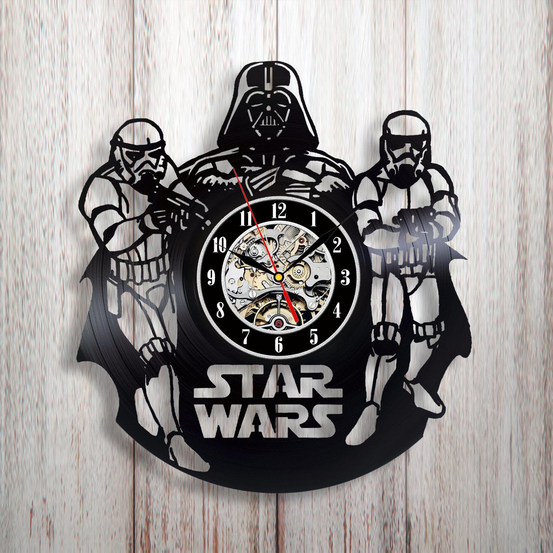 Star Wars Gift Vinyl Clock Home Decor Kitchen Kids Room Art
