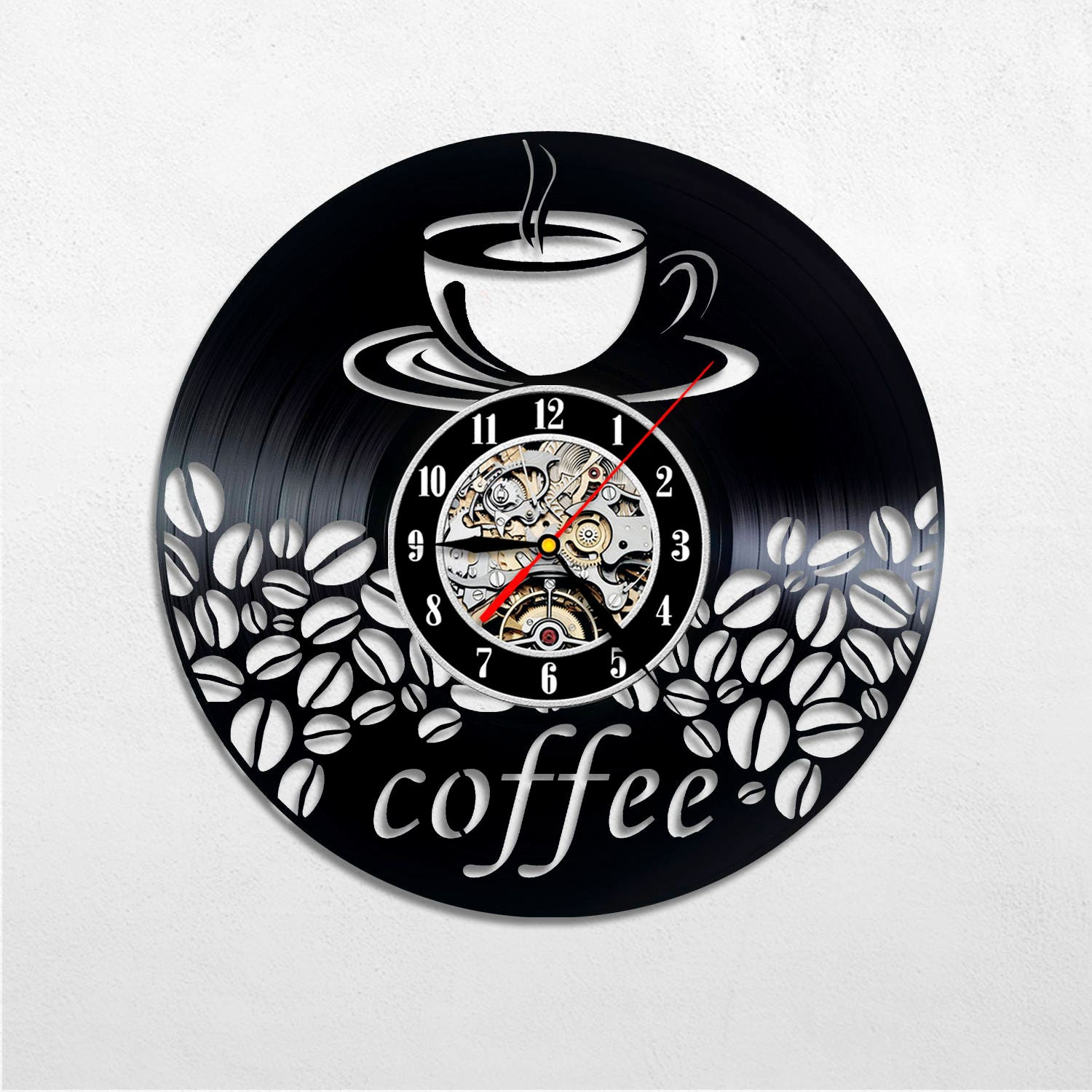 Coffee decor for kitchen, Coffee wall clock, Coffee gift ... on coffee themed accessories, coffee cafe themed kitchen decor, decorative wall decals for kitchen, coffee decorations for kitchen, coffee cafe kitchen wall stickers, quotes wall murals for kitchen, coffee stencils for kitchen, coffee themed kitchen decor posters, coffee cafe kitchen wall decor, coffee inspired kitchen decor, coffee shop decor, coffee and latte kitchen decor, glass wall art for kitchen, coffee signs for kitchen, coffee house themed kitchen, coffee table for kitchen, coffee cafe wall art, chef framed art for kitchen, christian wall decals for kitchen, mexican kitchen decor for kitchen,