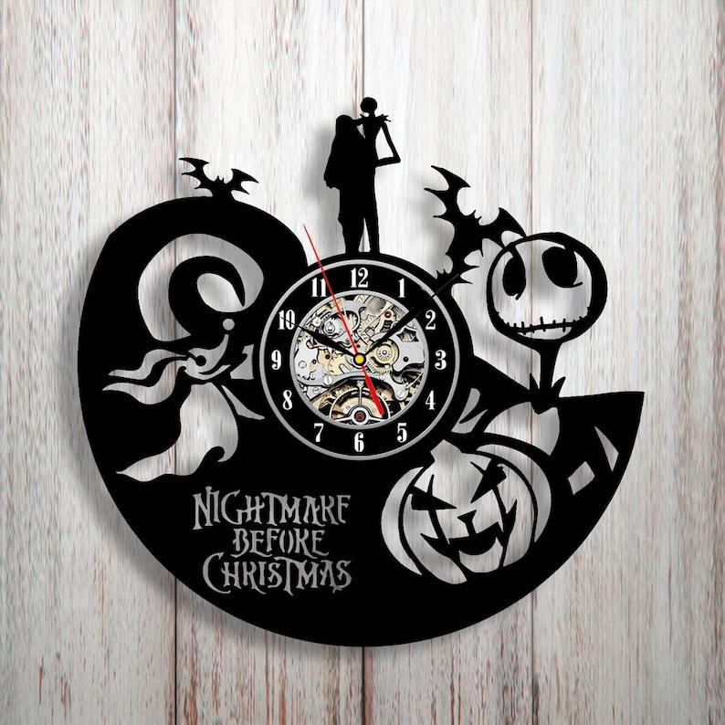 Nightmare Before Christmas Decor Vinyl Wall Clock Nightmare Before Christmas Gift Wall Decor Nbc Sally Halloween Decorations For Kids