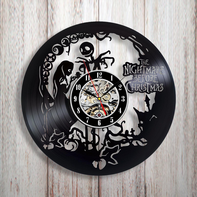 Vinyl-Uhr-Alptraum vor Weihnachten Alptraum Jack Alptraum | Etsy