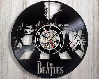 The Beatles art, Vinyl record wall clock, Beatles gifts, Beatles wall art, Beatles gifts for him, Beatles decor, Beatles Abbey Road art