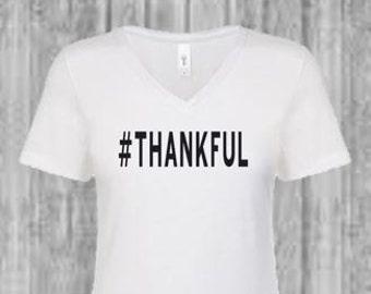Thankful- Thanksgiving Tee