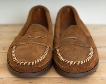 54395ade71d Genuine Leather Vintage Penny Loafer Moccasins
