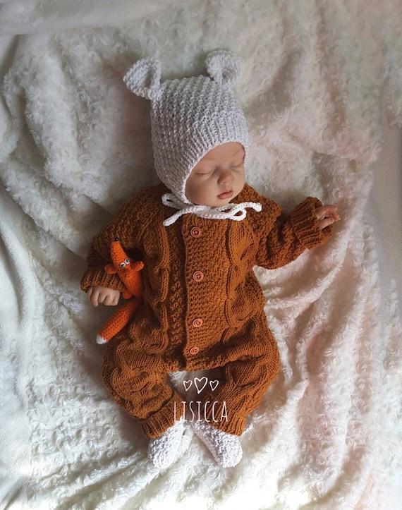 Gestrickte Baby-Kleidung die Baby Strampler stricken die   Etsy