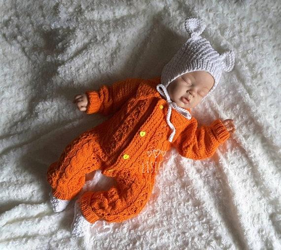 Handgestrickte Baby-Kleidung Baby stricken Baumwolle   Etsy