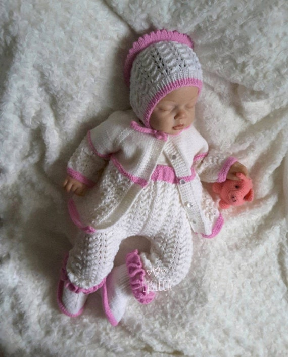 0db038a0e Baby knitted clothes Hand knit baby set Hand knitted baby