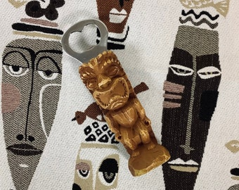 Bar accessory. Iron TOTEM bottle opener VTG 60s from Canada  Two-sided totem opener