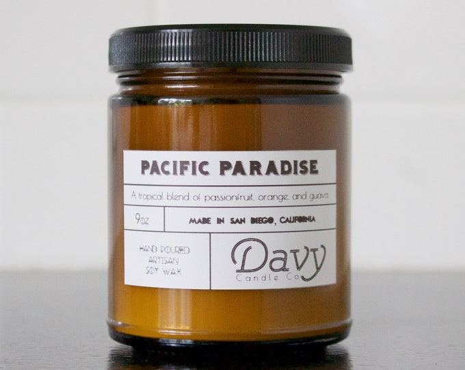 PACIFIC PARADISE - Passionfruit, Orange & Guava | All Natural Soy Candle