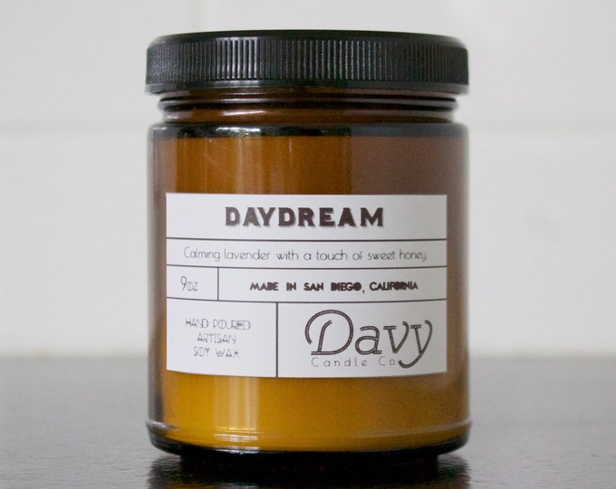 DAYDREAM - Calming Lavender & Sweet Honey | All Natural Soy Candle