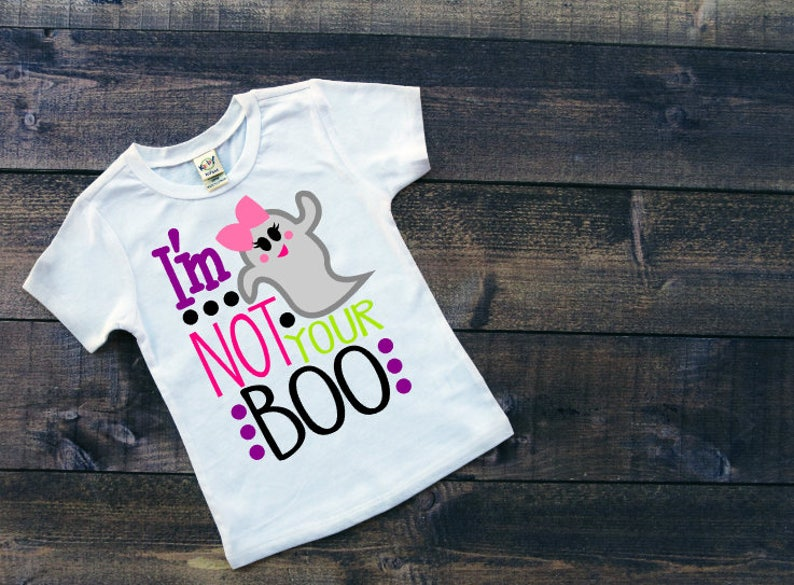 356a6ec20 I'm Not Your Boo Girl's Halloween Shirt Toddler's | Etsy