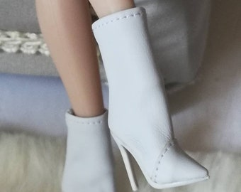 2019 fshion show shoes fit FR2 Nu Face 2 body doll integrity toys blue silver