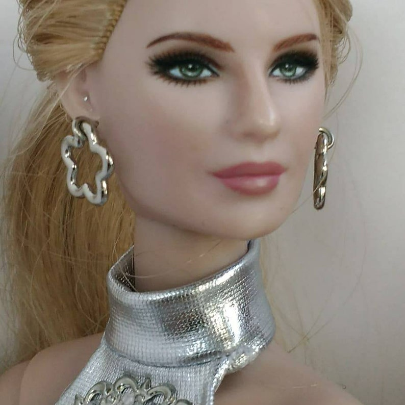 Fashion Doll earrings one size fits all same size doll!