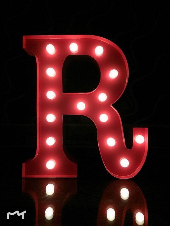 DEL alphabet métal lettre-U-rouge 31x14-30x5cm = 12 pouces MARQUEE Letter