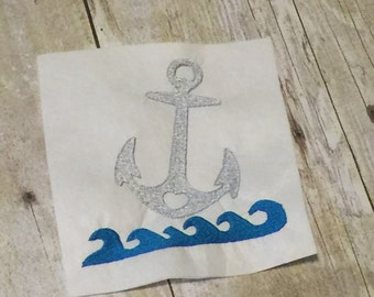 Waves embroidery design etsy