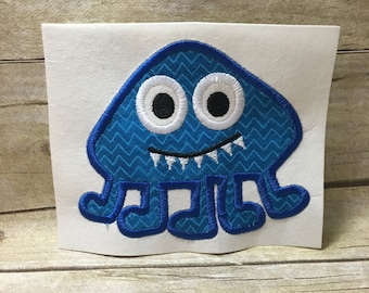 Monster Applique, Monster With Feet Applique