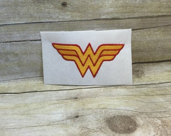 Wonder Woman Embroidery Design, Wonder Woman Logo Embroidery Design