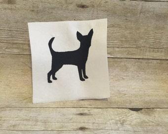 Chihuahua Embroidery Design, Chihuahua Applique