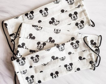 Disney Inspired Face Mask with Nose Wire