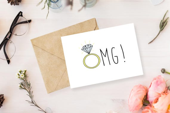 Omg engagement card engagement greeting card wedding etsy image 0 m4hsunfo
