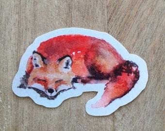 Sleepy Fox Stickers