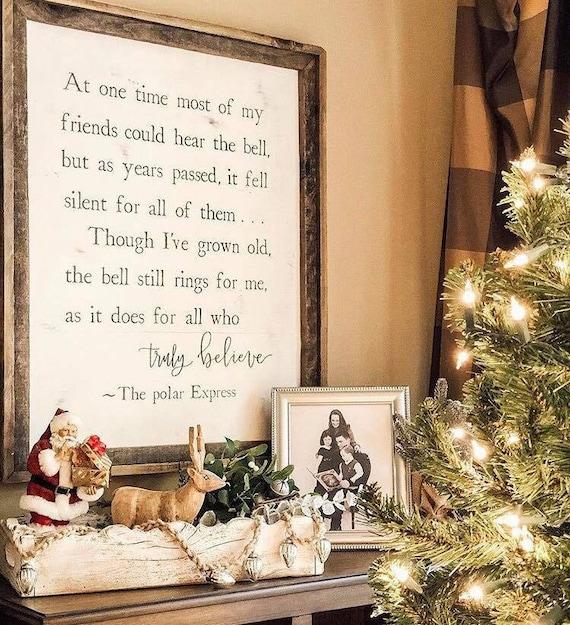 Polar Express // Christmas decor // Home decor // Wooden ...
